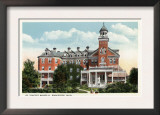 Worcester, Massachusetts - Exterior View of St. Vincent Hospital Poster