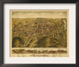 Rockville, Connecticut - Panoramic Map Print