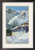 Tuckerman Ravine, NH - View of a US Forest Service Ski Shelter Posters