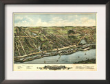 Windsor Locks, Connecticut - Panoramic Map Art