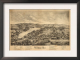Wilton, Maine - Panoramic Map Posters