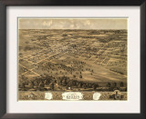 Mexico, Missouri - Panoramic Map Posters