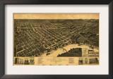 Selma, Alabama - Panoramic Map Prints