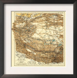 Tibet - Panoramic Map Prints