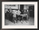 Boys Playing Pool at the United Worker's Boys Club Photograph - New Haven, CT Posters
