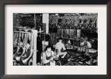 Interior View of a Brass Instrument Factory, Tubas and Trombone Prints