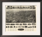 Willimantic, Connecticut - Panoramic Map Posters