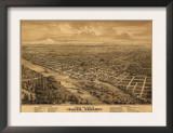 Oregon - Panoramic Map of Salem Posters