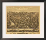 Stafford Springs, Connecticut - Panoramic Map Prints
