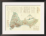 Shizuoka-ken, Japan - Panoramic Map Art