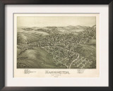 Mannington, West Virginia - Panoramic Map Print