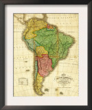 South America - Panoramic Map Prints