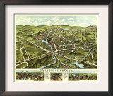 Wolcottville, Connecticut - Panoramic Map Posters