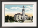 Worcester, Massachusetts - Exterior View of City Hall Prints