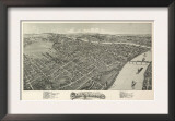 Parkersburg, West Virginia - Panoramic Map Prints
