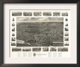 Wallingford, Connecticut - Panoramic Map Prints