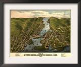 Mystic River, Connecticut - Panoramic Map Prints