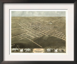 Sedalia, Missouri - Panoramic Map Posters