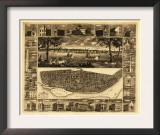 Saint Louis, Missouri - Panoramic Map Prints