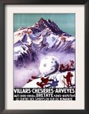 Villars, Switzerland - Naughty Gnomes Making Giant Snowball Poster Prints