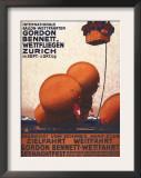 Zurich, Switzerland - Gordon Bennett Hot-Air Balloon Race Poster Poster