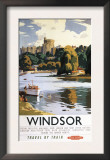 Windsor, England - British Railways Windsor Castle Thames Poster Posters