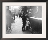 Children on a Chinatown Street NYC Photo - New York, NY Poster
