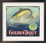 Golden Trout Orange Label - Lindsay, CA Art
