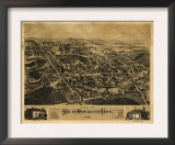 Southington, Connecticut - Panoramic Map Poster