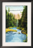 Vancouver, Canada - View of Capilano Suspension Bridge No. 2 Print