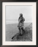 Indian Woman in Primitive Dress Edward Curtis Photograph Posters