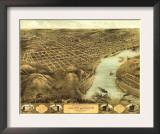 Saint Joseph, Missouri - Panoramic Map Poster