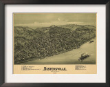 Sistersville, West Virginia - Panoramic Map Art