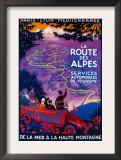 La Route Des Alpes Vintage Poster - Europe Posters