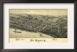 Saint Marys, West Virginia - Panoramic Map Posters