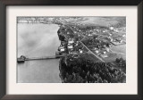Coupeville, WA View from Air Whidby Island Photograph - Coupeville, WA Print