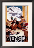 Wengen, Switzerland - The Downhill Club Promotional Poster Poster