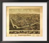 Unionville, Connecticut - Panoramic Map Prints