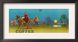 Desert Scene Coffee Label Print