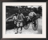Korean Aristocrat Riding in a Rickshaw Photograph - Korea Posters