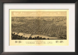 Terre Haute, Indiana - Panoramic Map Prints