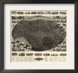 Winsted, Connecticut - Panoramic Map Print