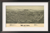 Weston, West Virginia - Panoramic Map Posters