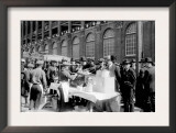 Fans buying hot dogs at Ebbets Field, Brooklyn Dodgers, Baseball Photo - New York, NY Poster