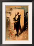 Magician Pulling Roses out of Hat Poster Prints