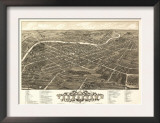Youngstown, Ohio - Panoramic Map Prints