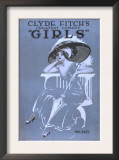 "Clyde Fitch's Greatest Comedy, ""Girls"" Theatre Poster No.2 Poster"