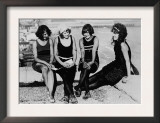 Four Women at the Beach Photograph - Atlantic City, NJ Posters