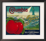 Columbia Apple Crate Label - Yakima, WA Print