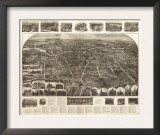 Westerly, Rhode Island - Panoramic Map Prints